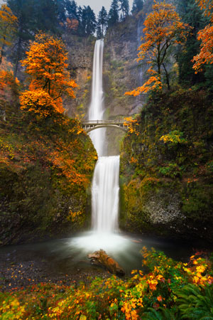 Multnomah-Falls-in-the-Fall